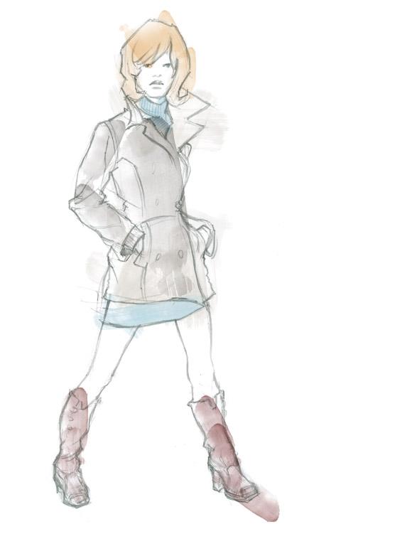 Raincoat illo