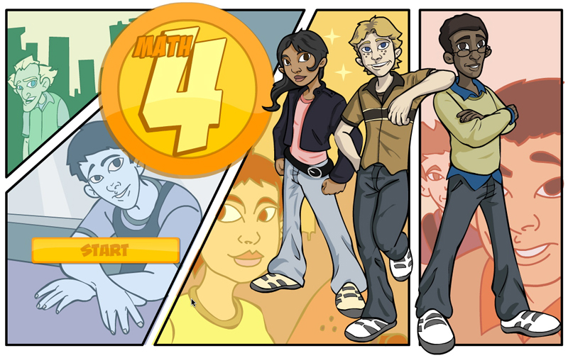 Math 4 title screen alberta education