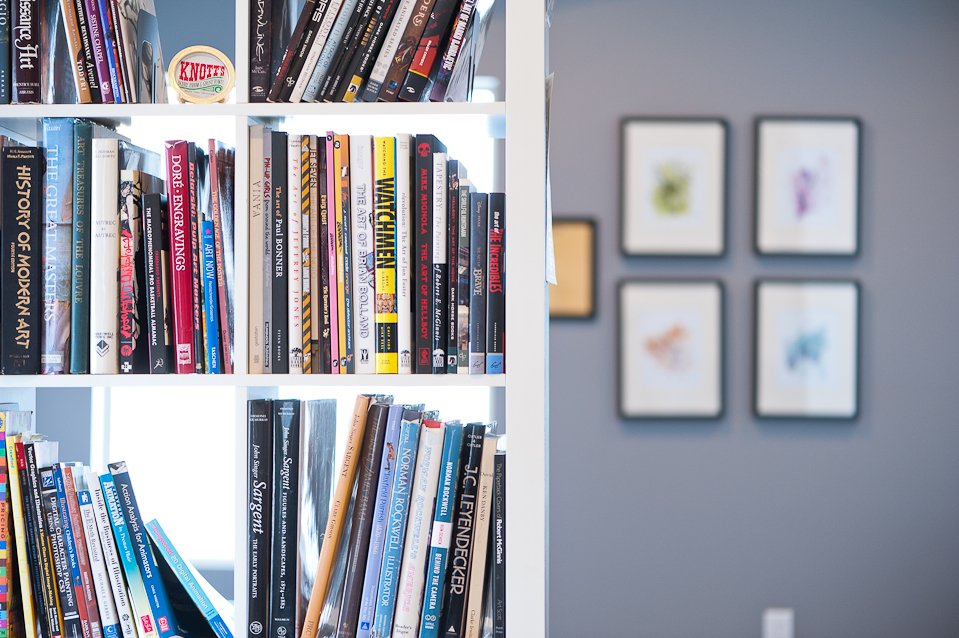Photo of Pulp Studios Inc. Illustration and Design's bookshelf