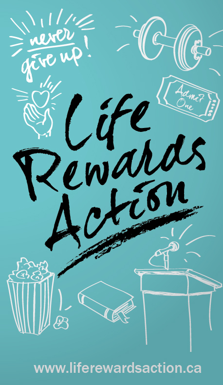 Life Rewards Action Business Card Front