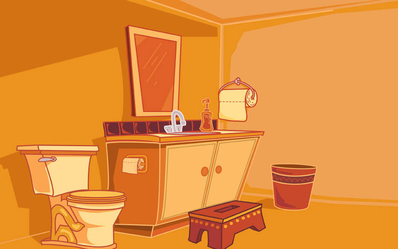 hand hygiene bathroom illustration
