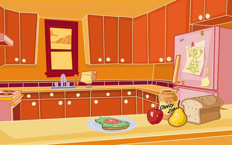 hand hygiene kitchen illustration