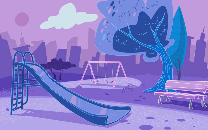 hand hygiene park illustration