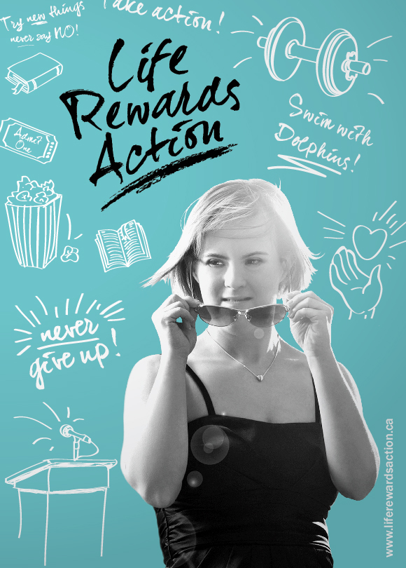 Life Rewards Action Postcard Front